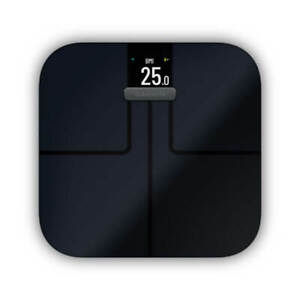 Garmin Index S2 Smart Scale Black, WiFi, Body Composition Metrics 010-02294-02