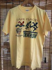 Vintage Medium Lake Placid Triathlon Usa Qualifier Tee Shirt M New York Ny