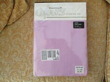 BNIW HOMEDREAM COLORS Easy Care Cotton Mix Lilac Single Fitted Sheet