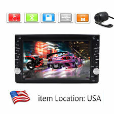 GPS Navigation HD Double 2DIN Car Stereo DVD Player Bluetooth MP3 TV+Camera OG