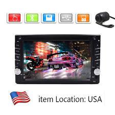 GPS Navigation HD Double 2DIN Car Stereo DVD Player Bluetooth MP3 TV+Camera OG