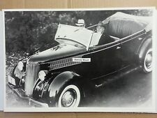"""12 By 18"""" Black & White PICTURE 1936 Ford Phaeton with President Roosevelt FDR"""