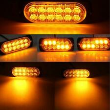 4x 12 Led Amber Warning Emergency Hazard Beacon Dash Strobe Light Bar Foglights