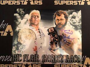Harley Race Autographed ORIGINAL WWE 8x10 Promo with  PSA COA WWE WCW NWA