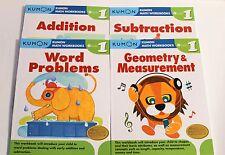KUMON Math Workbooks Grade 1 Set  (4 Books) --FREE SHIPPING