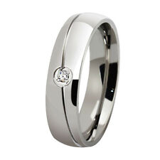 Size 5-13 Silver/Gold/Black Band Men Women Stainless Steel Engagement Party Ring