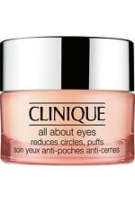 Clinique All About Eyes Rich .21 oz / 7ml Promo Size Reduces Circles,Puffs Cream