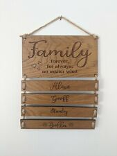 Engraved family name, family name plaque, personalised engraved family names