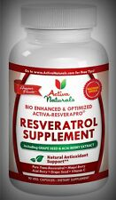 Potent Pure Resveratrol w Vit C Acai Grape Seed Immune Heart Joints 90 Day Suply