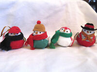4 WONDERSHOP Christmas Tree Bird Ornaments Featherly Friends Toymaker Set 2018