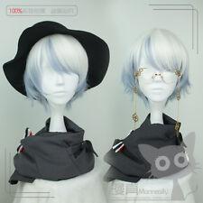 Wig Cospaly Short Japanese Lolita Harajuku Gothic Curly Daily White Mixed Blue