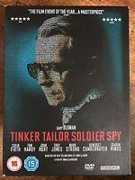 Tinker Tailor Soldier Spy DVD 2011 Le Carre Cold War Spy Movie in Ltd Ed Digipak