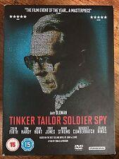 Tom Hardy TINKER TAILOR SOLDIER SPY ~ 2011 Le Carre Spy Drama UK DVD in Digipak