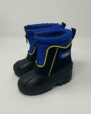"""Totes Toddler sz 6 Snow boots w/removable lining, leather upper """"Teddy"""" Blue Zip"""