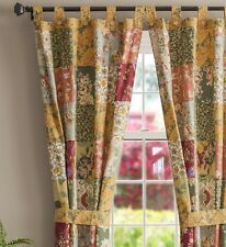 ANTIQUE CHIC WINDOW PANELS : COUNTRY FLORAL PAISLEY COTTON CURTAIN DRAPES