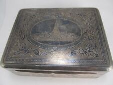 SIAM THAILAND STERLING FINELY TOOLED HEAVY JEWELRY BOX XLNT COND NO MONO