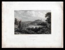 Lancaster 1832 William finden-Joseph Henderson Grabado Antiguo