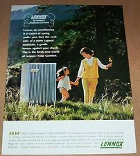 1960s vintage ad - Lennox Heating Cooling Air cute little girl mother PRINT Ad