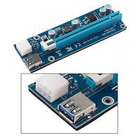 USB3.0 PCI-E Express 1x bis 16x Extender Riser Kartenadapter Netzkabel Bergbau/