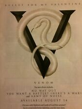 Bullet For My Valentine, Venom, Full Page Promotional Ad
