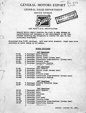 1932 Buick AMA Specs Brochure Export a1035-KGG295