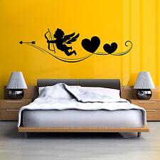 CHERUB BOW AND ARROW CUPID ANGEL HEARTS Vinyl wall art sticker decal