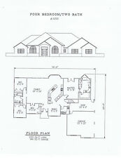 2320 square feet four bedroom house plan