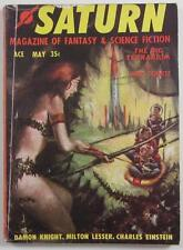 SATURN SCIENCE FICTION FANTASY MAG #2 MAY 1957 H P LOVECRAFT AUGUST DERLETH
