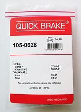 QUICK BRAKE 105-0628 Kit accessori,PARCHEGGIO ganasce freno OPEL CORSA KADET