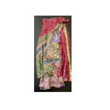 """Silk saree Wrap around skirt, 34"""" length"""