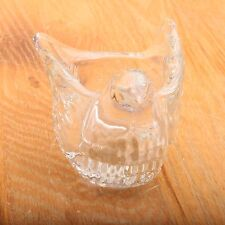 Vintage Avon Bird Shape Candle Holder Clear Glass Dove Votive