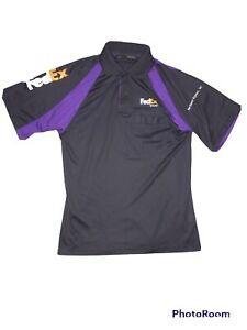 FedEx Freight Stan Herman Short Sleeve Small Black Purple Polo C25
