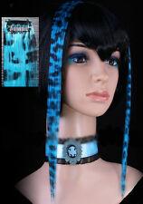 Extension cheveux à clipper clip paire gothique cyber punk lolita léopard bleu