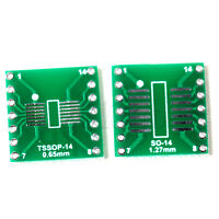 5pcs SO/SOP/SOIC/SSOP/TSSOP/MSOP14 to DIP 14 Adapter PCB Board Converter YG