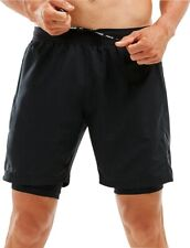 2XU 7 Inch 2 in 1 Mens Compression Shorts - Black