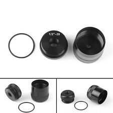 "For Maglite D Cell Cap set 1/2""-28 Replacement end caps Combo Threaded US"