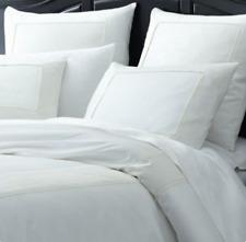 Pier 1 Imports White Ansley Border Bedding Square Euro Size Pillow Shams (2avail