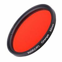 RISE(UK) 52mm Full Orange Color Conversion Lens Filter Mount for DSLR SLR Camera