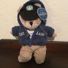 STARBUCKS Bearista Stuffed Bear 2007 Portland NWT Blue Hoodie Mint