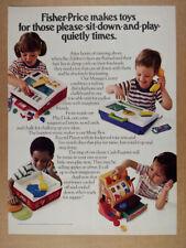 1980 Fisher-Price Message Center Play Desk Cash Register toys vintage print Ad