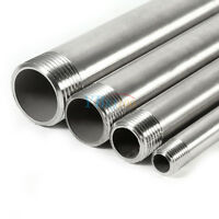 """1/4""""-1"""" 304 Stainless Steel Male x Male Threaded Pipe Fittings 200mm BSP New el"""