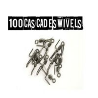 Cascade Swivels  100 in total rig building sea fishing terminal tackle