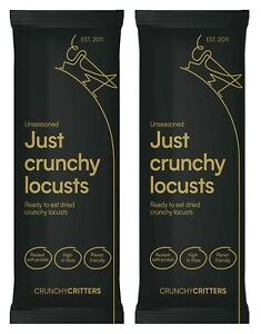 Crunchy Critters edible insects bugs Locusts x 2 packs
