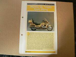 LM16- HONDA GL1500 GOLD WING INFO CARD SHEET MOTORCYCLE,MOTORRAD,MOTORFIETS