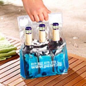 Kühl-Tragetasche für 6 Flaschen Getränkedosen Flaschenkühler Kühlakku Kühltasche