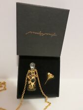 "Marilyn Miglin 30"" Refillable Perfume Necklace with Lobster Clasp- Amethyst Ston"