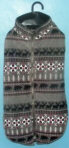 Bailey & Bella Fleece Dog Jacket Sweater Moose Bear Native American XXL NWT