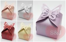 10/50 Wedding Favour Bomboniere Box 6cm Butterfly Baby Shower Birthday Party