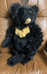 "Vintage The Vermont Teddy Bear Company 20"" large Black tan Jointed Plush"