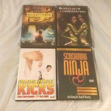 4 DVD Lot: Mirror or Mask, Screaming Ninja, Naked Weapon, Shaolin Deadly Kicks